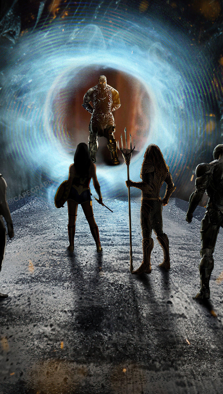 Fondos de pantalla Heroes de Liga de la Justicia contra Darkseid Vertical