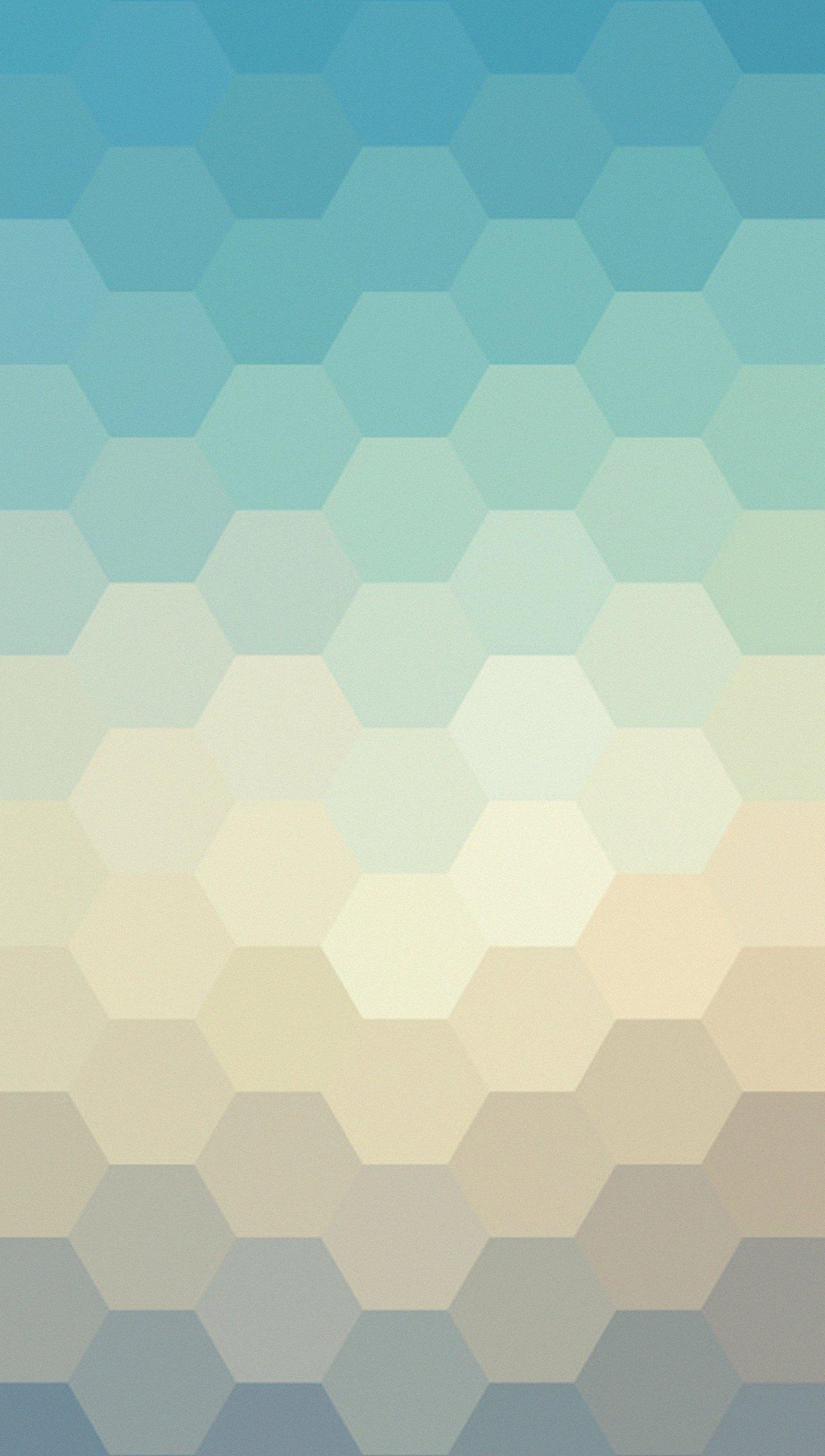 Fondos de pantalla Hexágonos colores pastel Vertical
