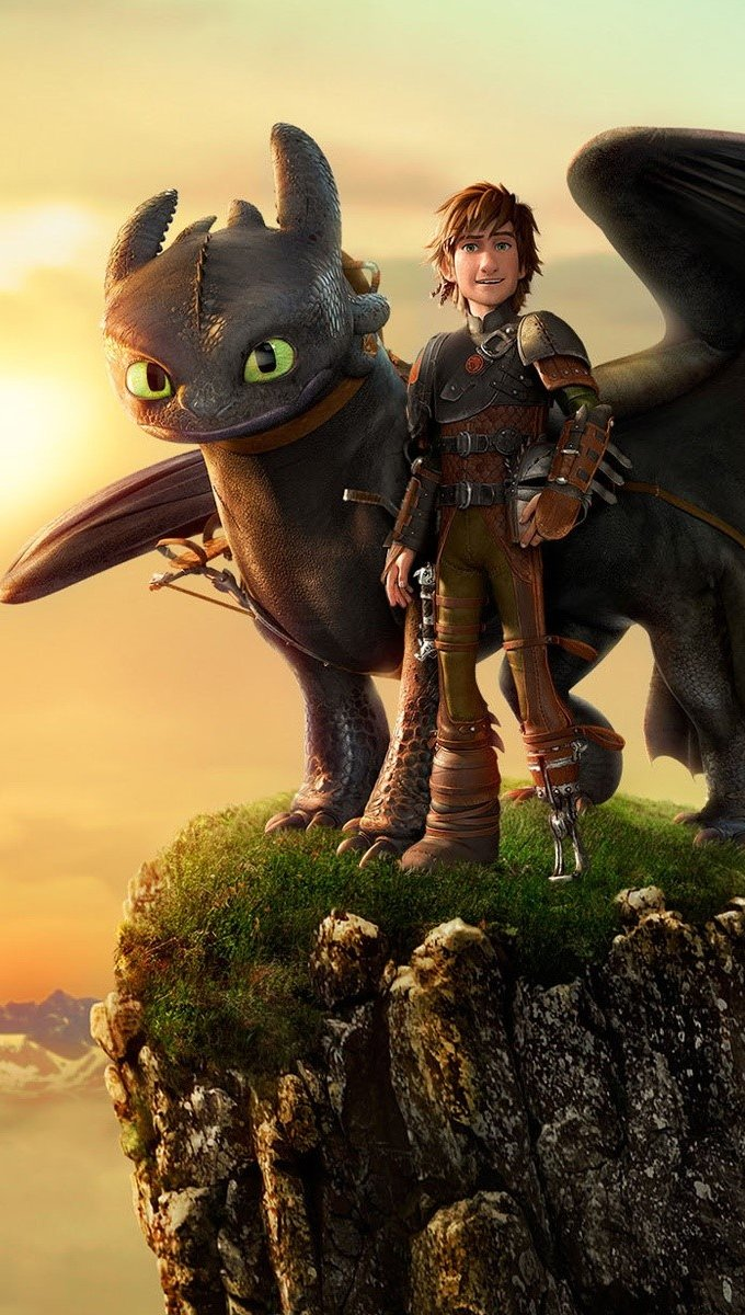 Wallpaper Hiccup and nocturnal fury Vertical