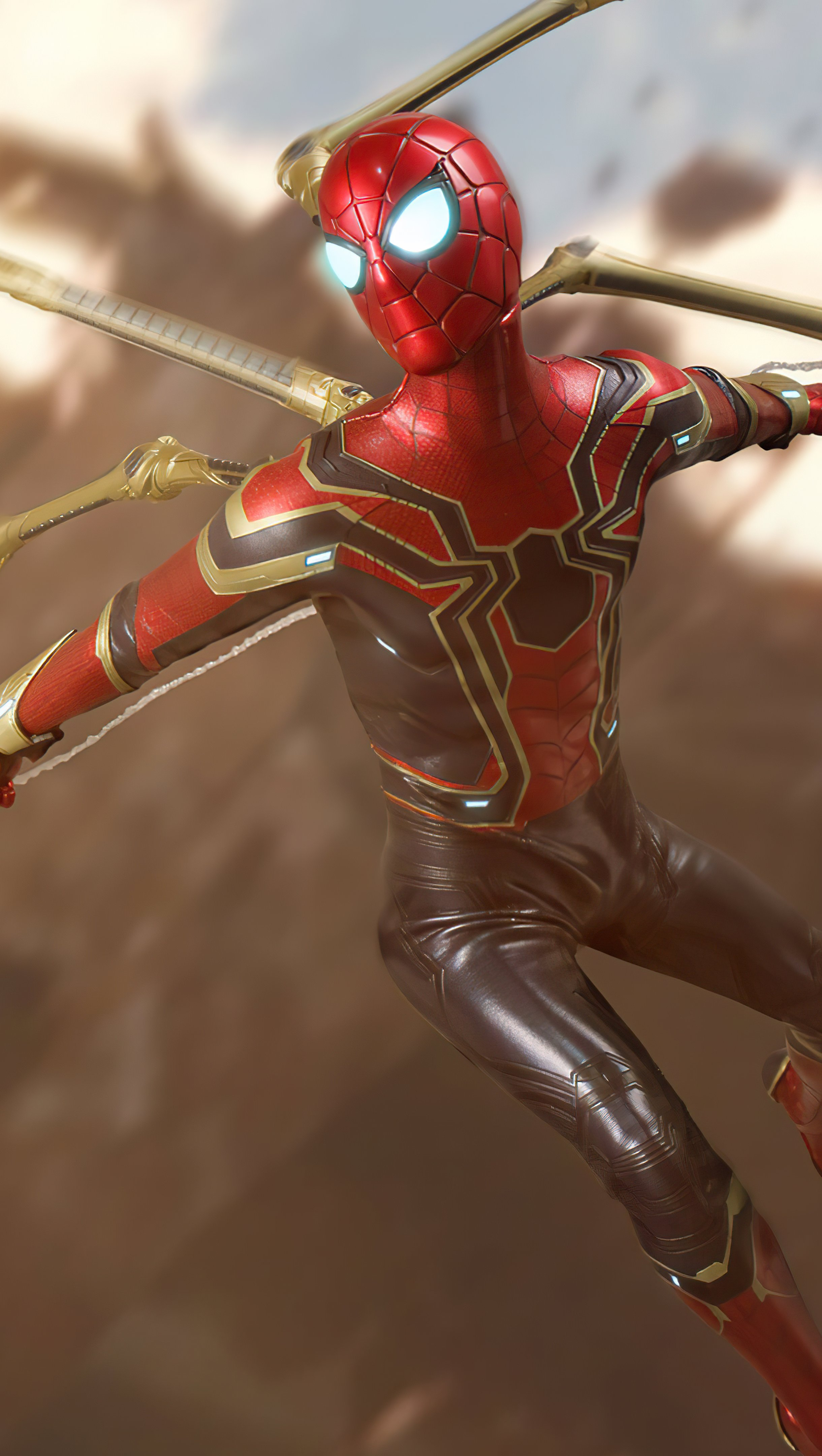 Wallpaper Spider Man with new suit Vertical
