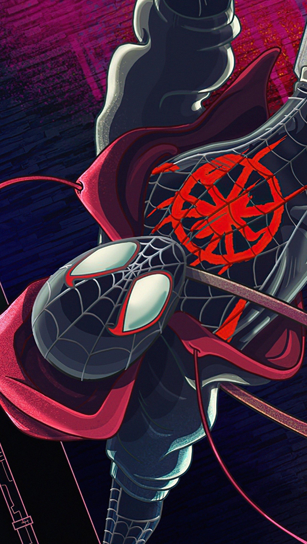 Wallpaper Spider Man upside down Vertical