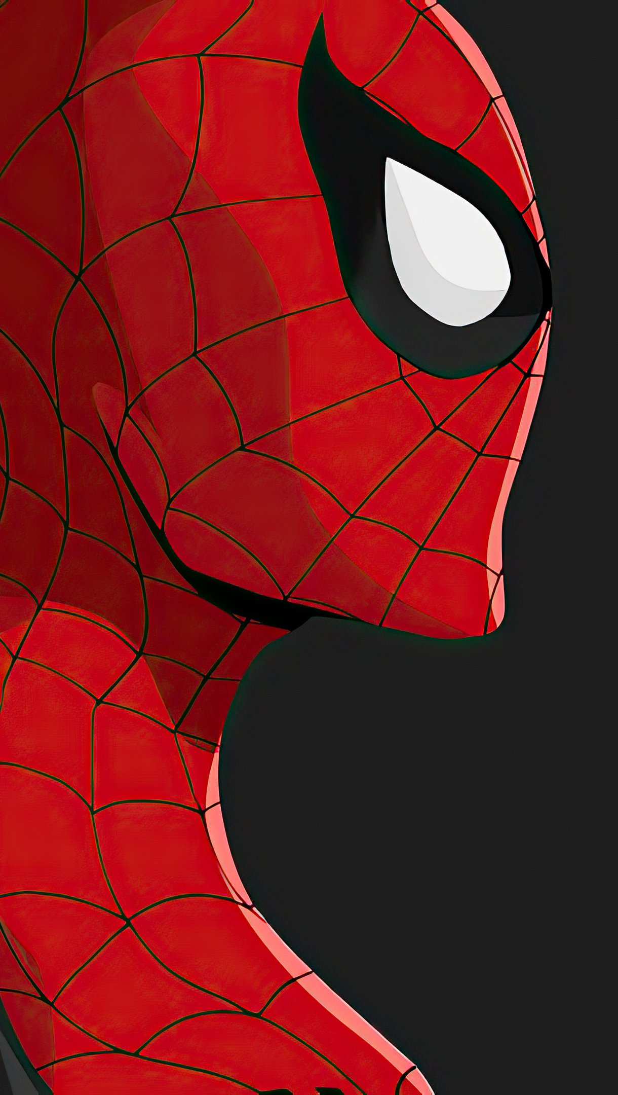 Wallpaper Black and red Spiderman Vertical