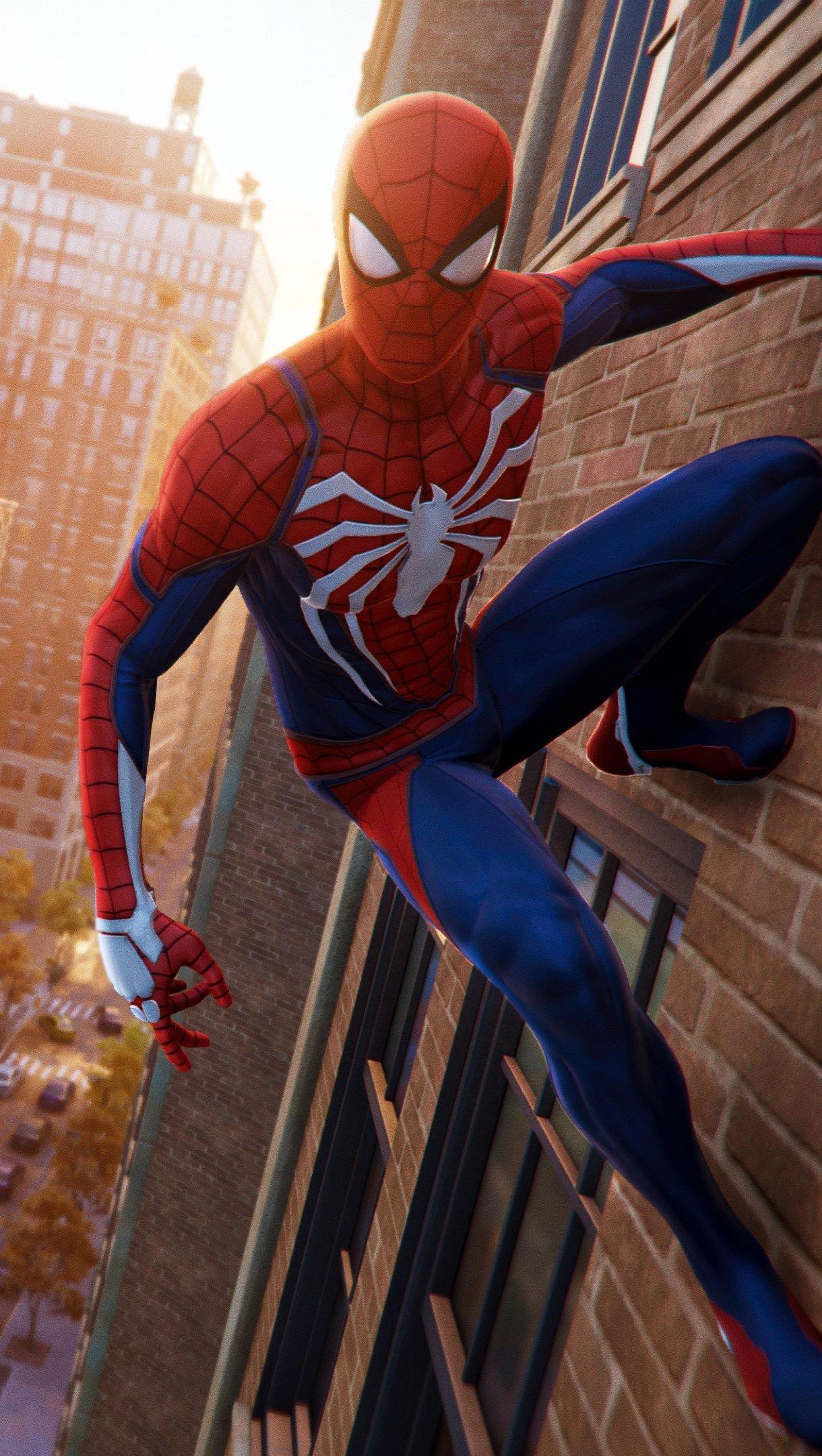 Fondos de pantalla Hombre Araña - Spider-Man de PS4 escalando un edificio Vertical