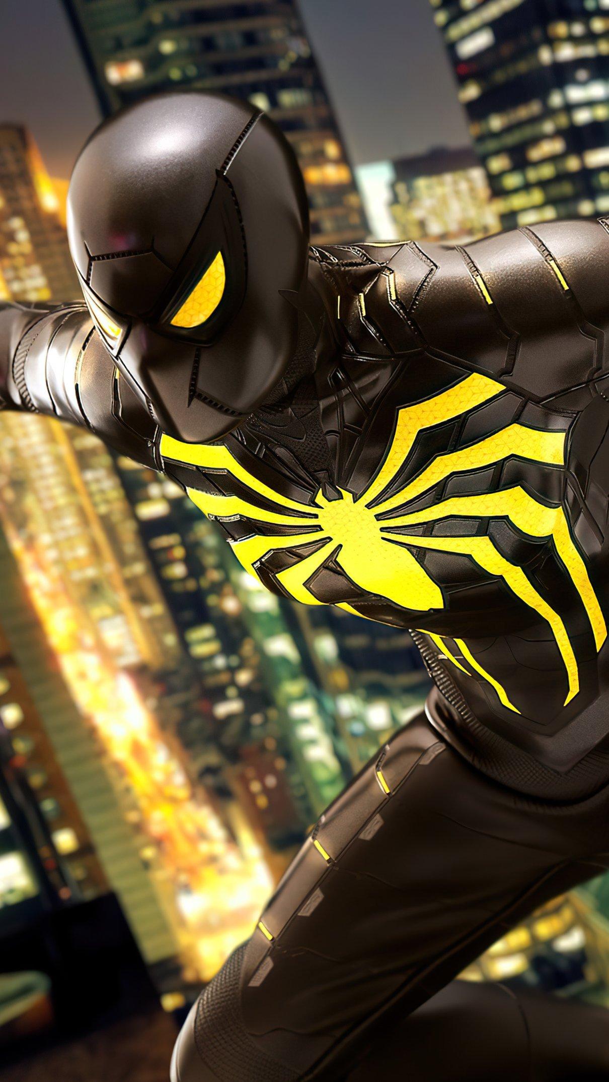 Fondos de pantalla Hombre araña traje Anti Ock Vertical