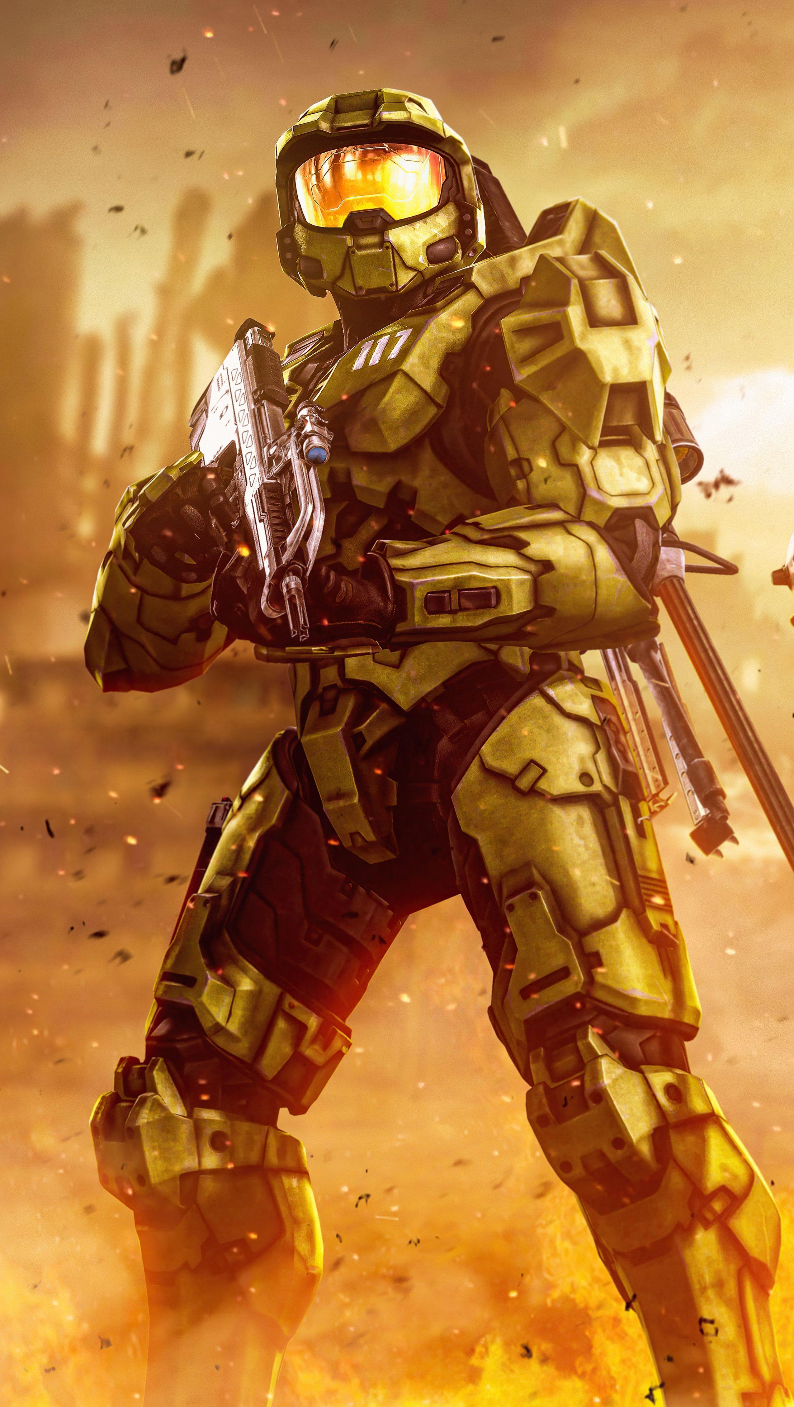 Fondos de pantalla Hombres verdes Halo Infinite Vertical