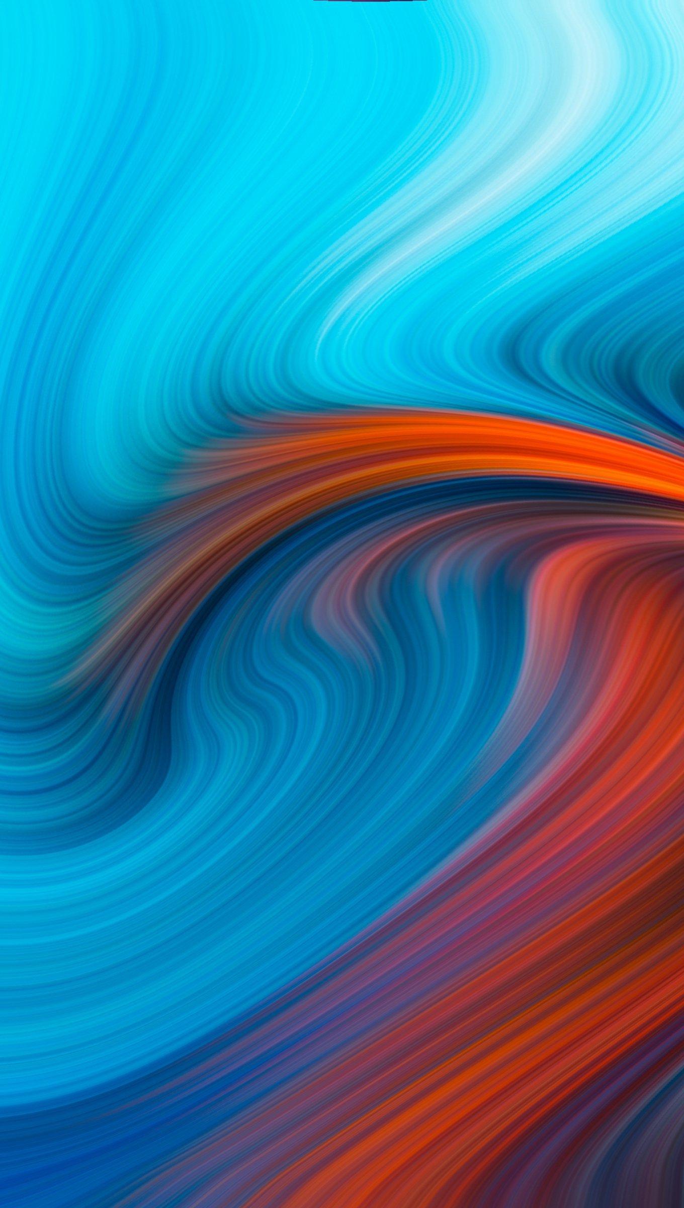Fondos de pantalla Hoyo azul y naranja Vertical