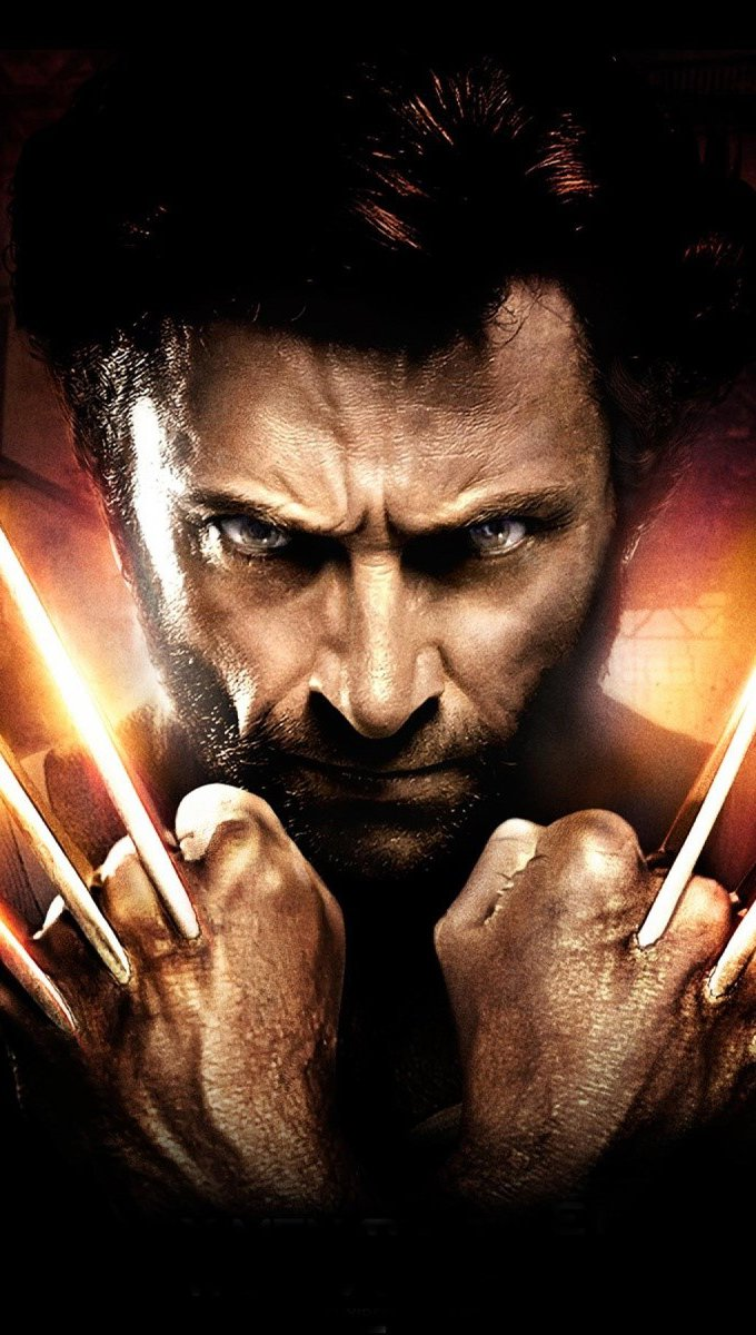 Wallpaper Hugh Jackman as Wolverine Vertical
