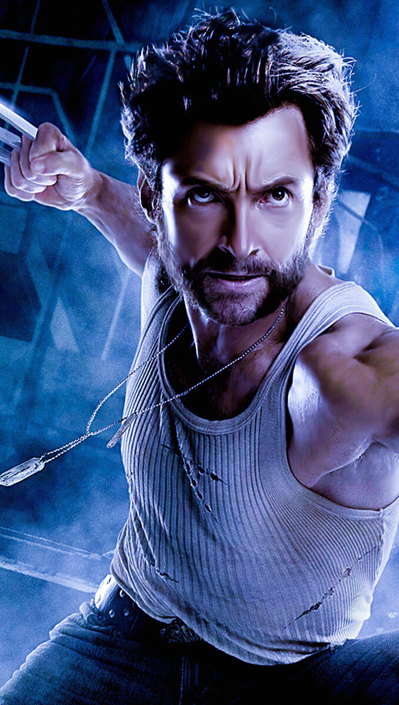 Fondos de pantalla Hugh Jackman como Wolverine arte digital Vertical