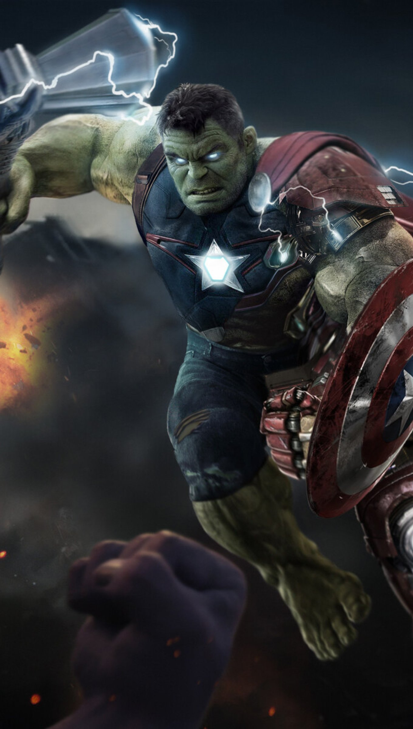 Wallpaper Hulk in Avengers Endgame Vertical
