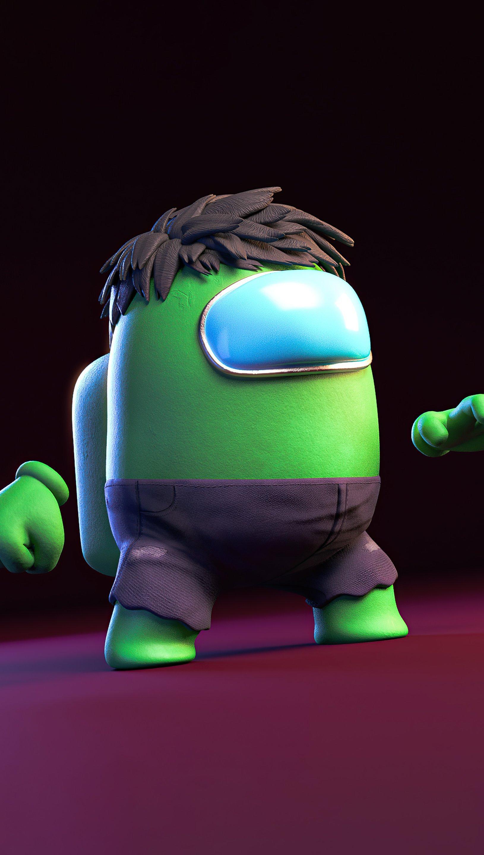 Fondos de pantalla Hulk estilo Among us Vertical
