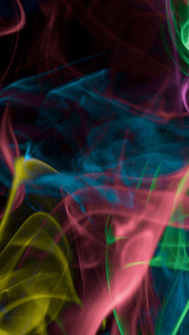 Fondos de pantalla Humo colorido Vertical