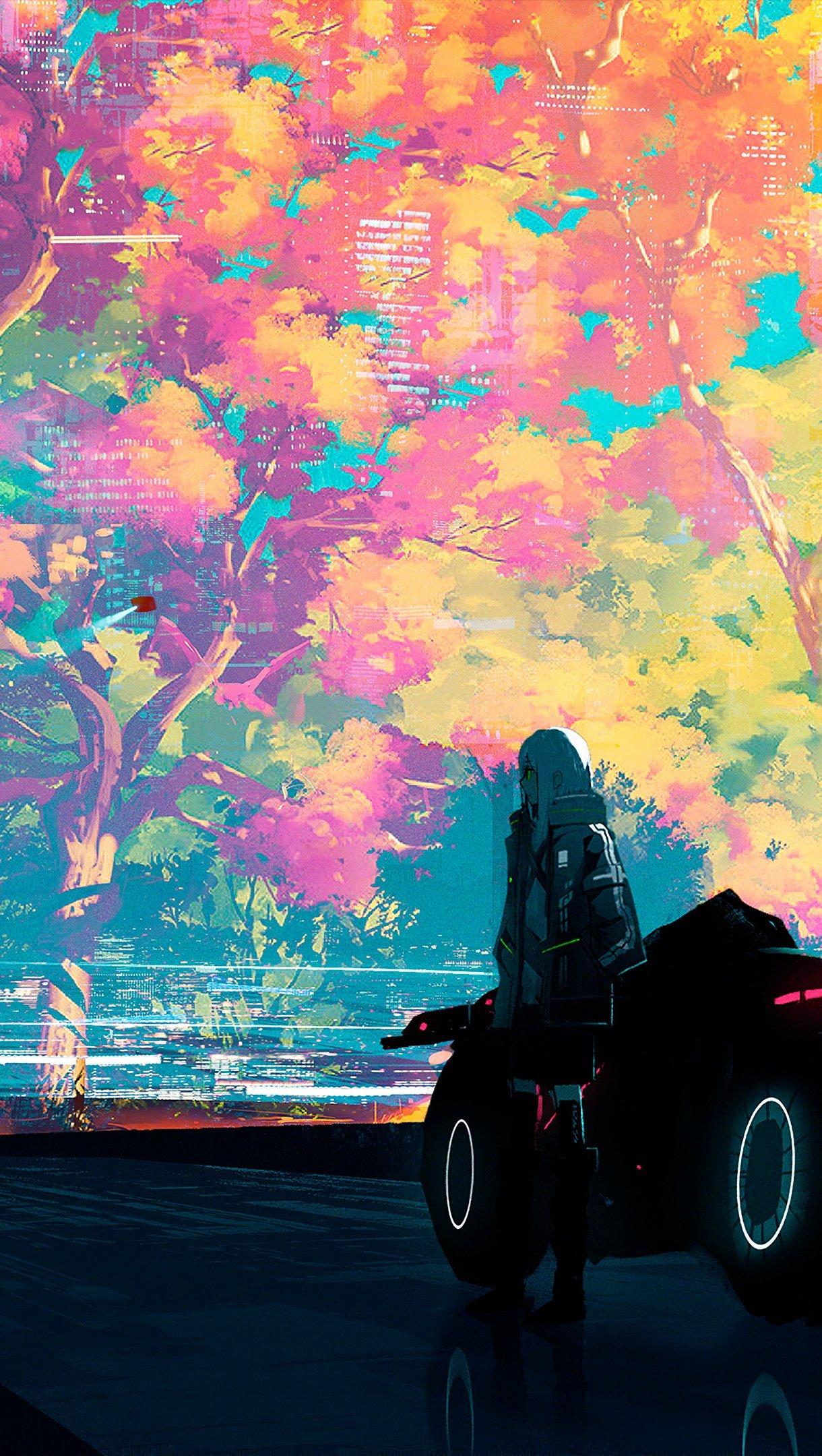 Fondos de pantalla Ilustración Ciudad pintada Vertical