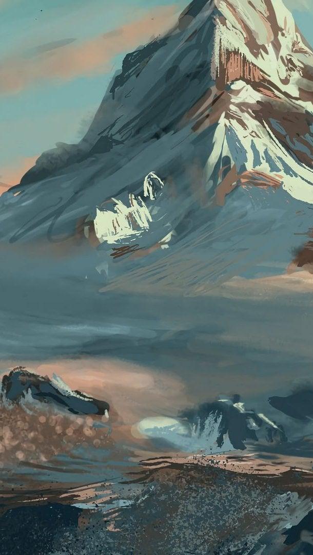 Fondos de pantalla Ilustración de montaña Vertical