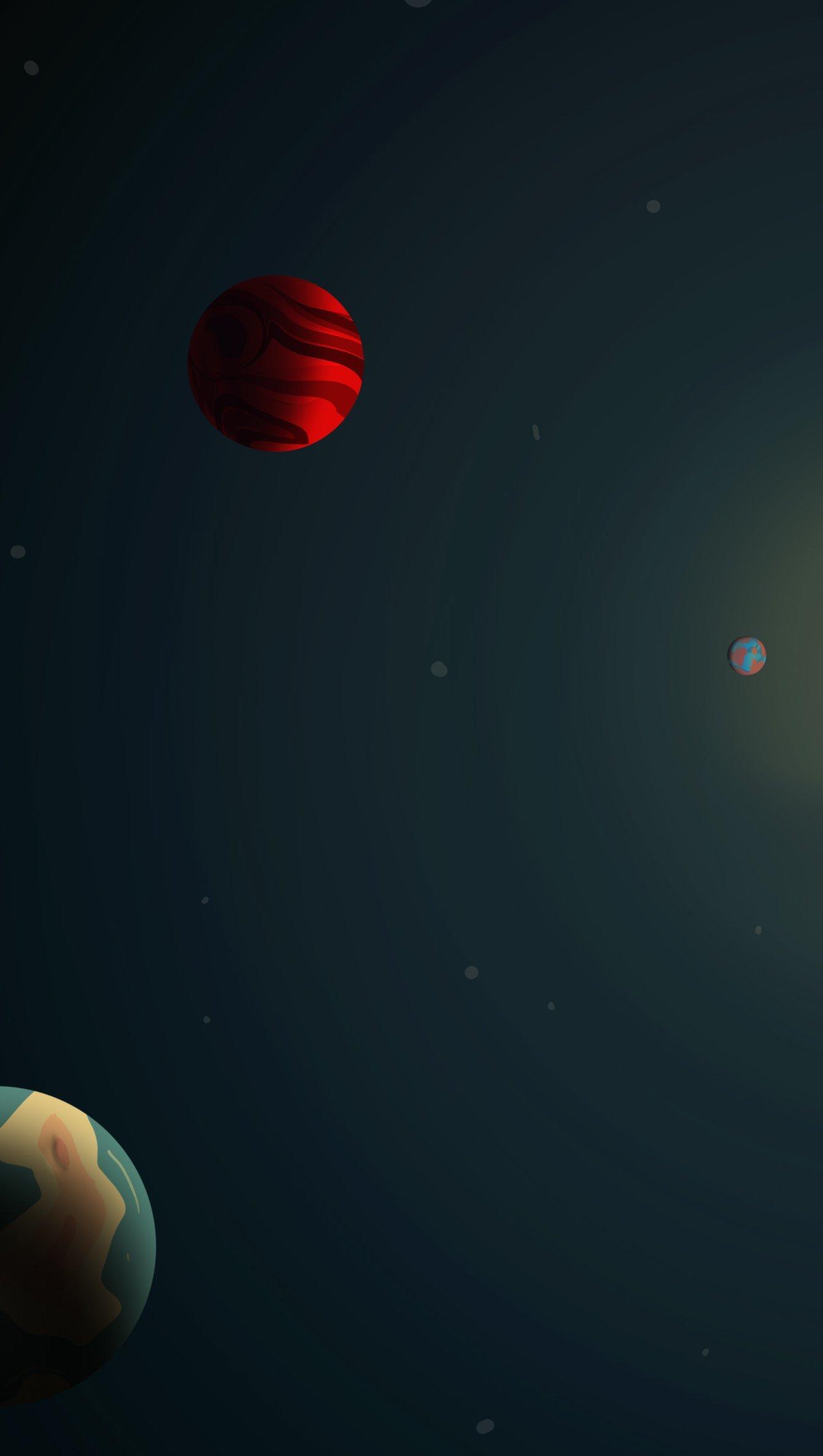 Fondos de pantalla Ilustración de planetas Vertical