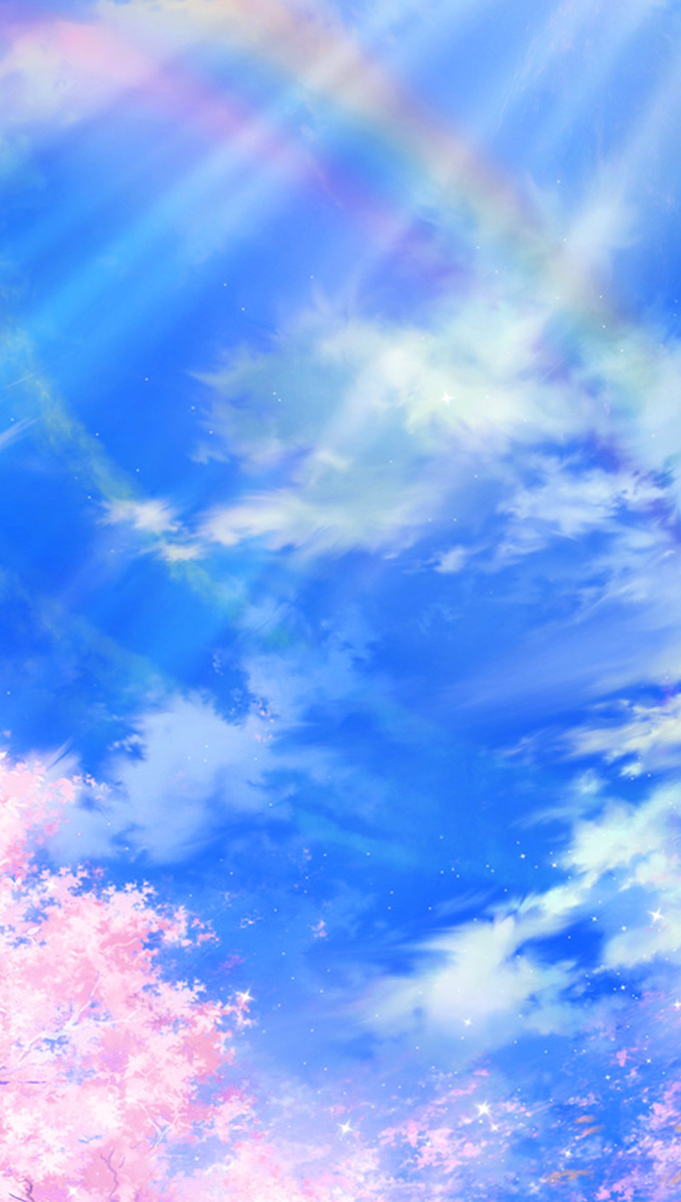 Fondos de pantalla Ilustración de primavera nubes cielo anime Vertical