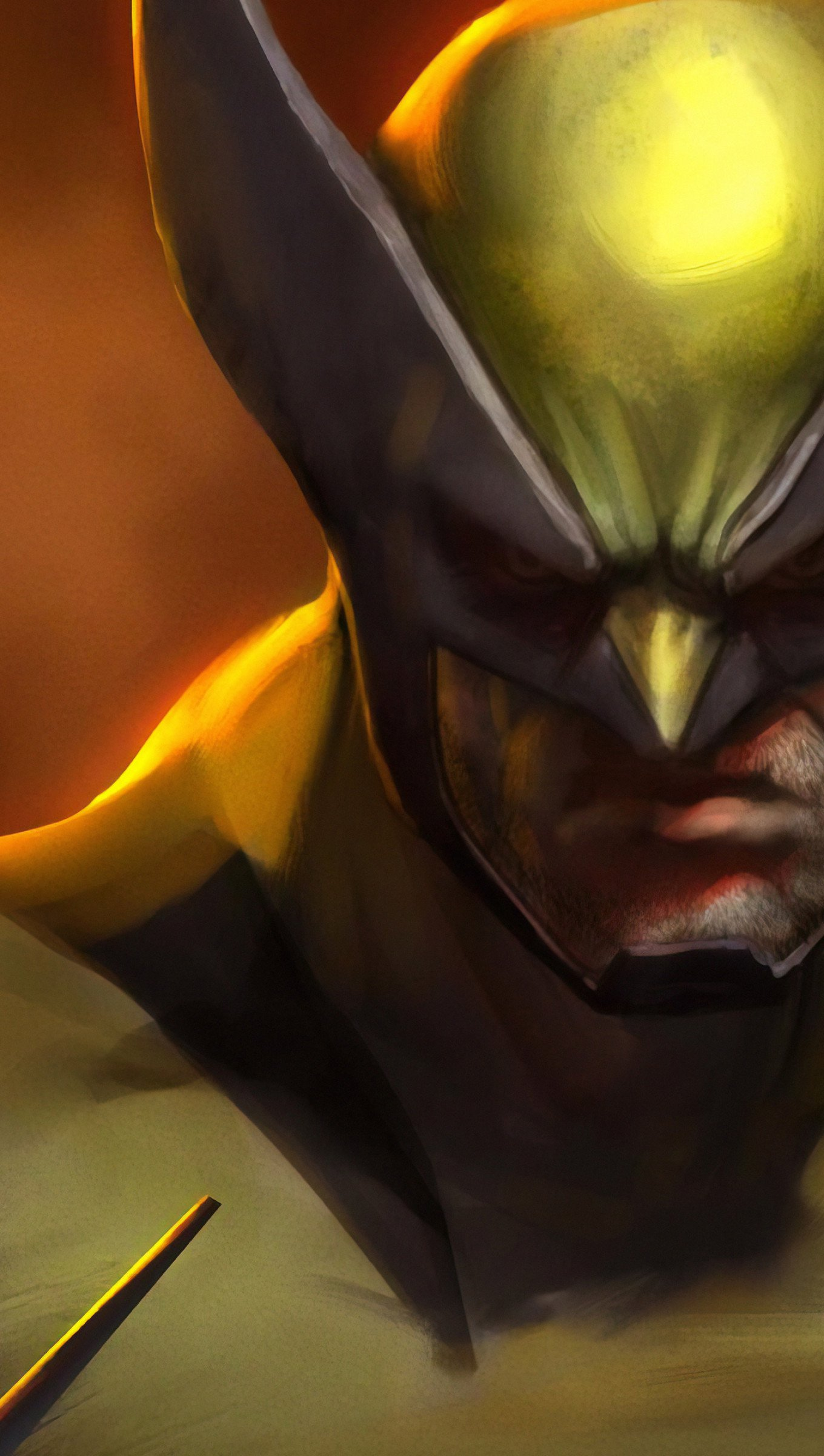 Fondos de pantalla Ilustración digital de Wolverine Vertical