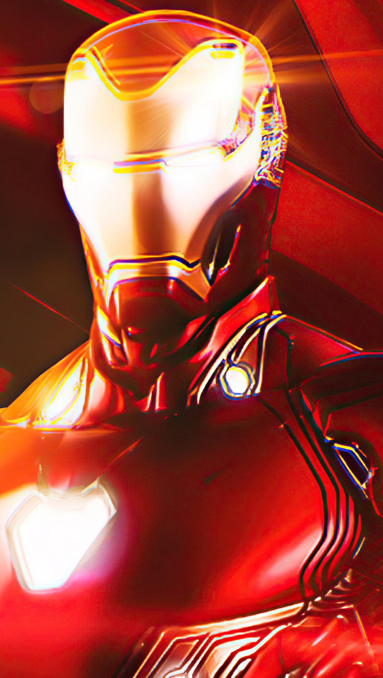 Wallpaper Iron Man Illustration Vertical