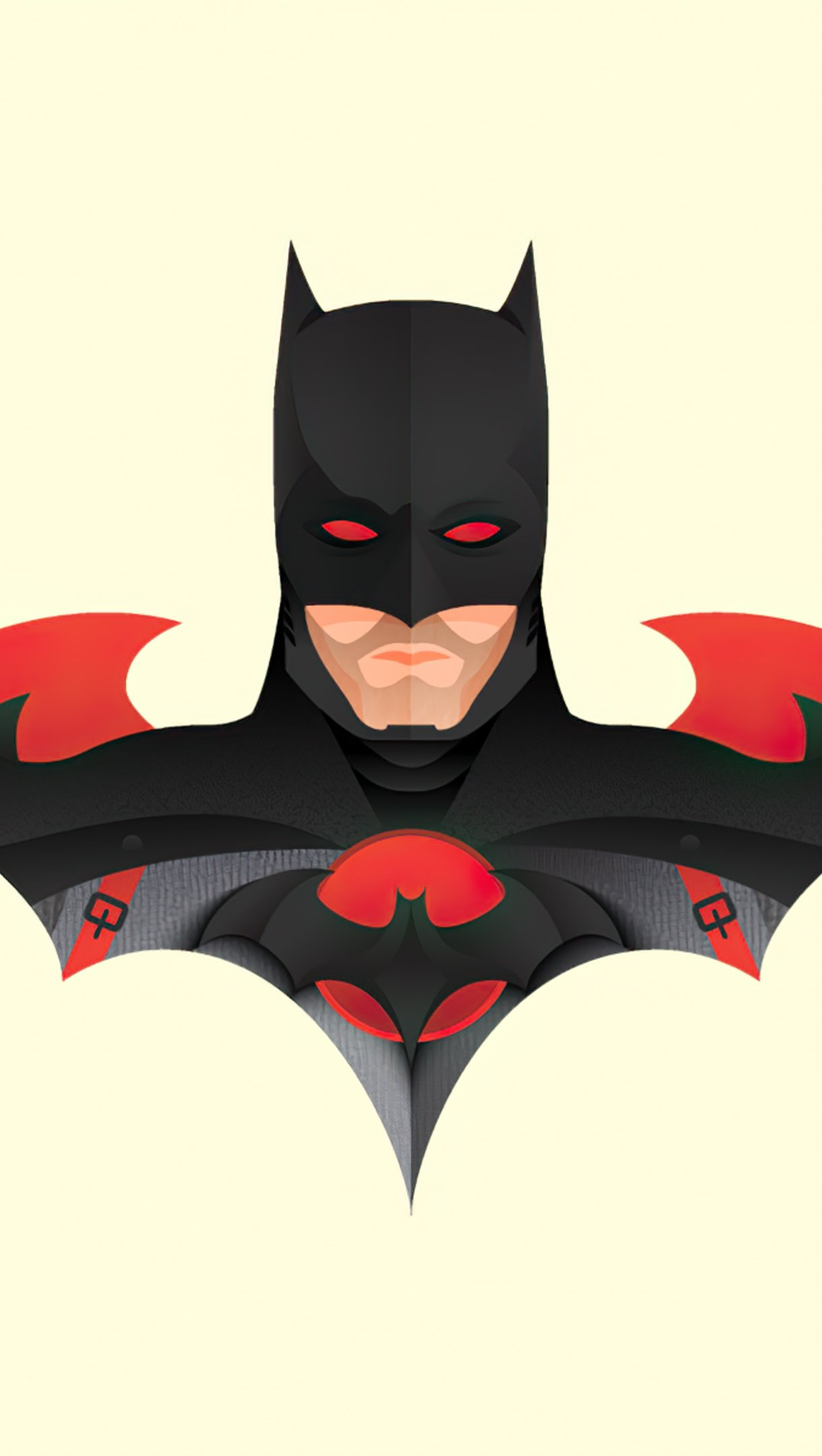 Fondos de pantalla Ilustracion Minimalista de Batman Vertical