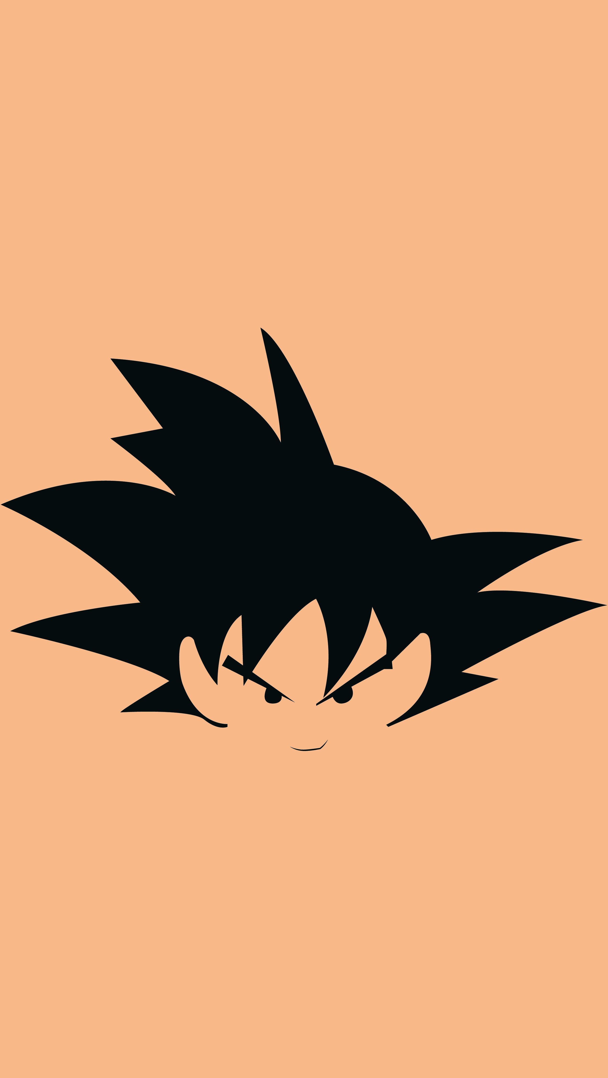 Fondos de pantalla Anime Ilustración minimalista de Goku Vertical
