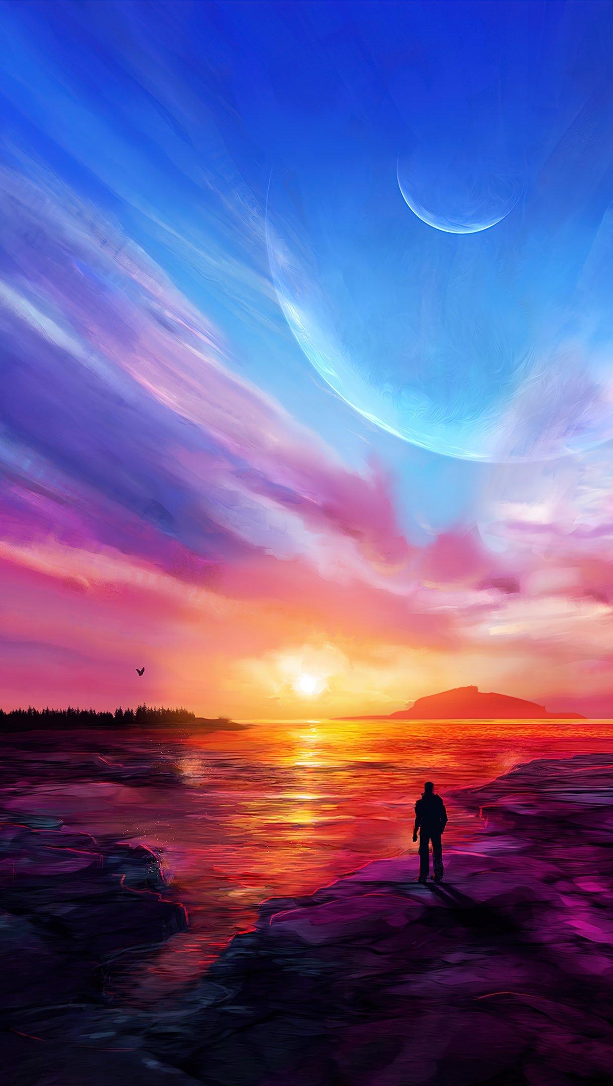 Wallpaper Impresive sunset Vertical