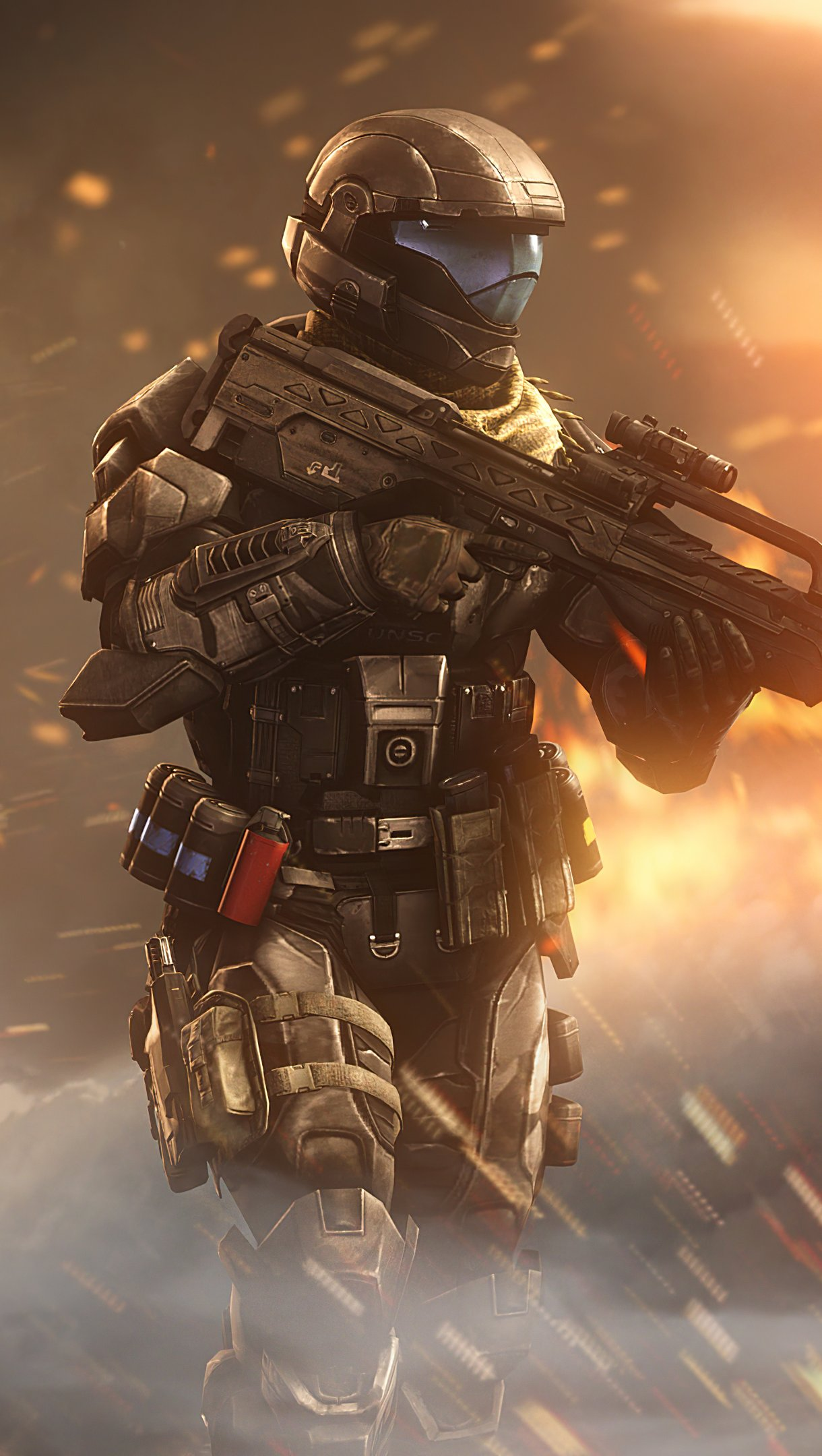 Fondos de pantalla Incendary Halo Vertical