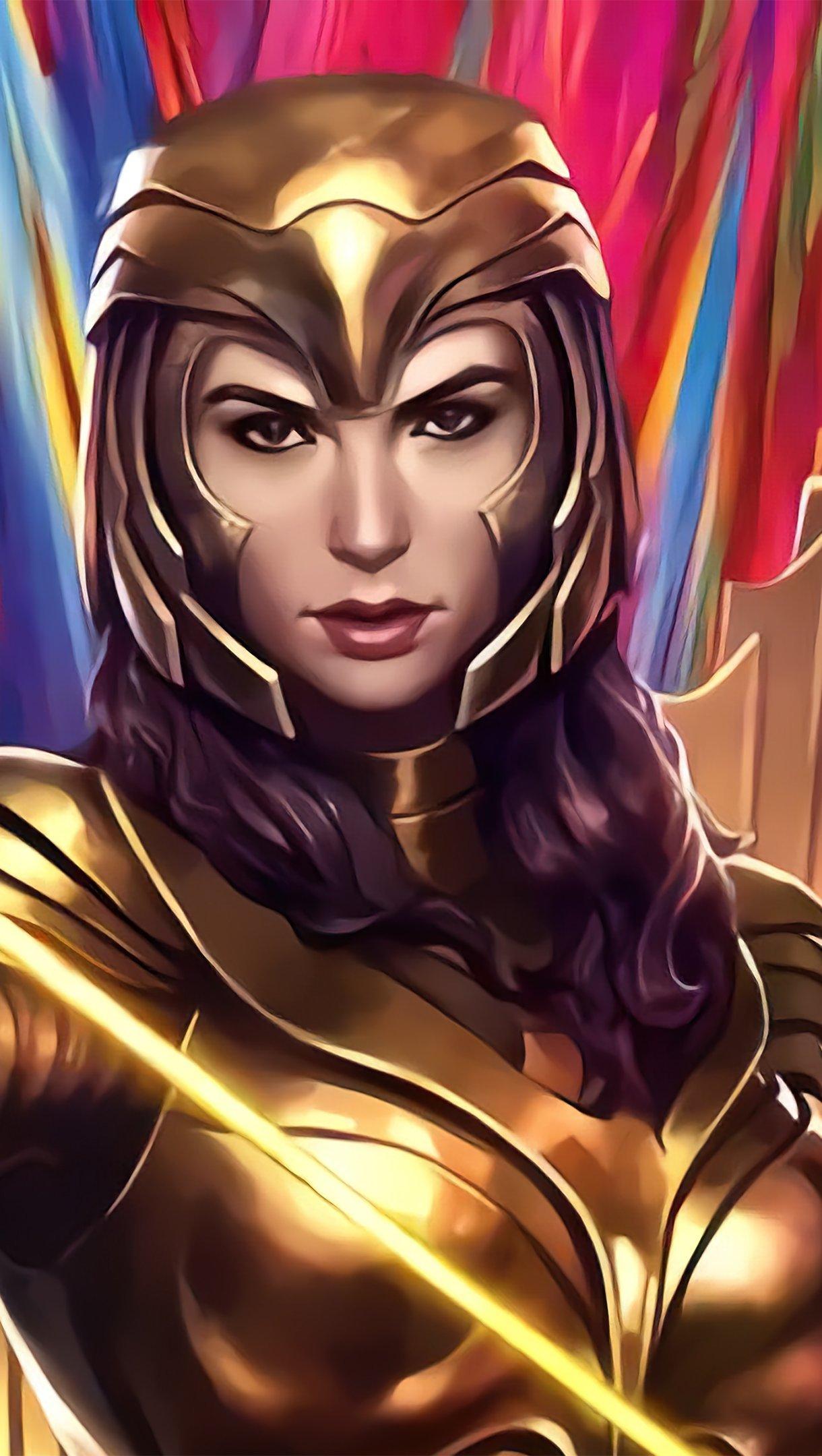Wallpaper Injustice Wonder Woman Gold suit Vertical
