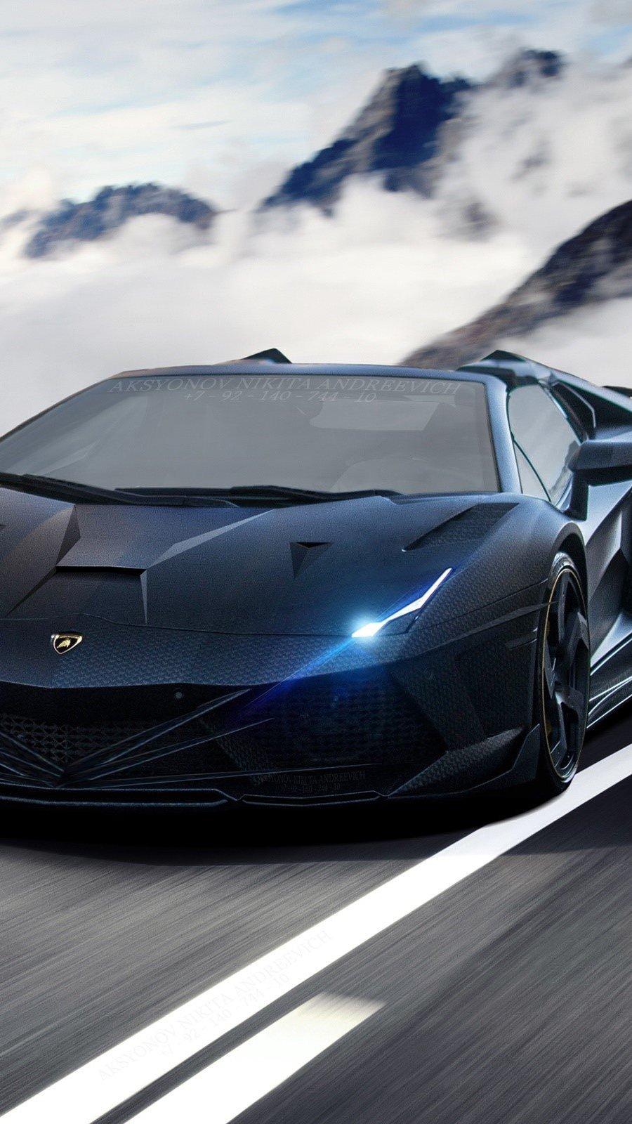 Wallpaper Insane Lamborghini Aventador Vertical