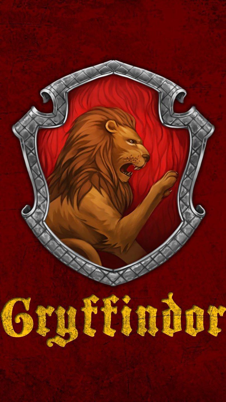 Wallpaper Gryffindor Badge Harry Potter Vertical