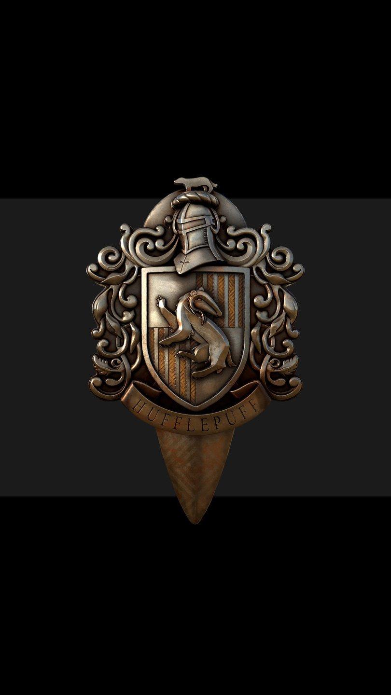 Wallpaper Hufflepuff  Badge Harry Potter Vertical