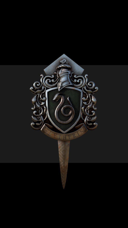 Wallpaper Slytherin Badge Harry Potter Vertical