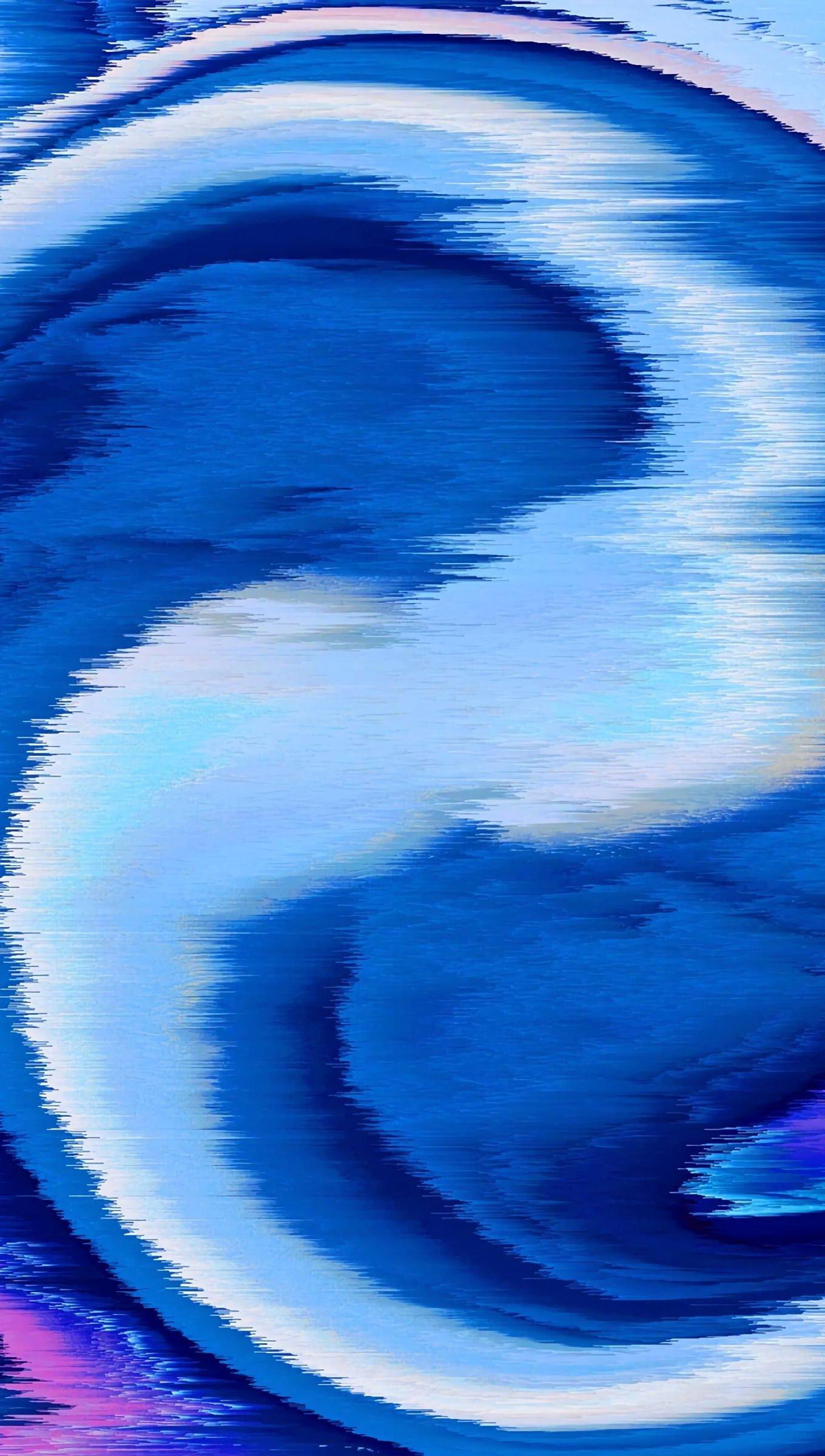Fondos de pantalla Interferencia en espiral azul Vertical
