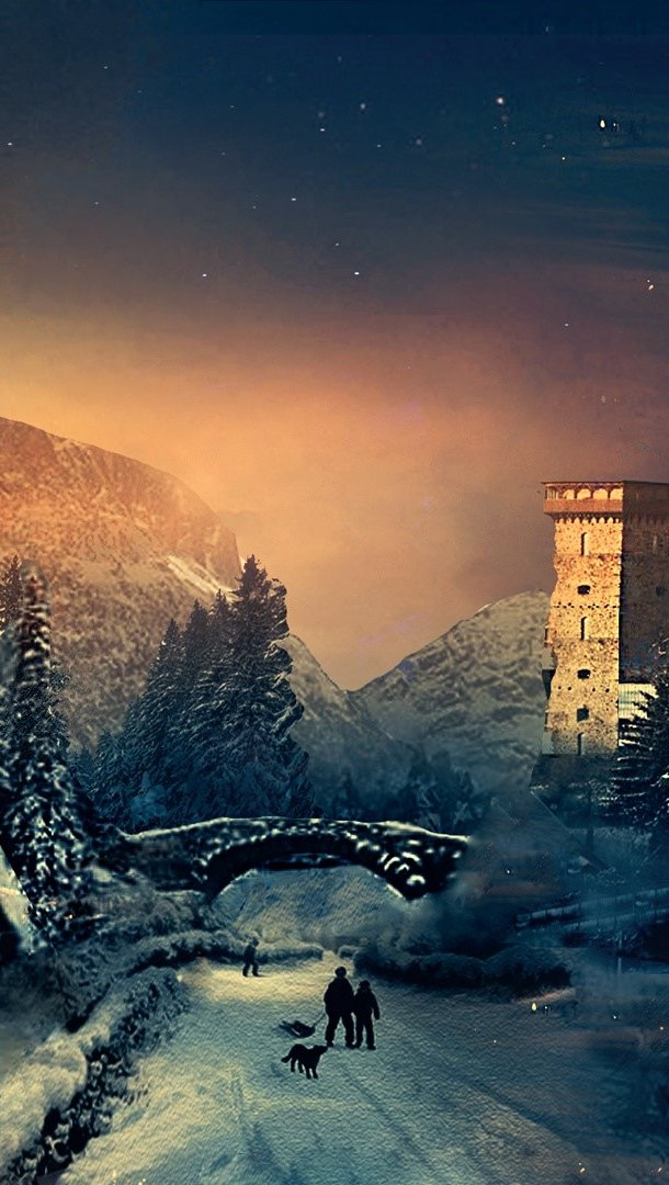 Wallpaper Winter Vertical
