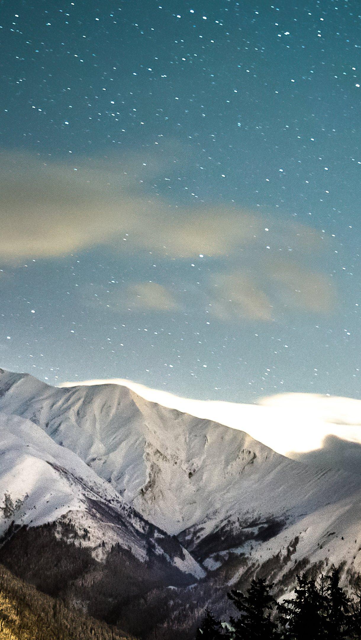 Fondos de pantalla Invierno en las montañas Vertical