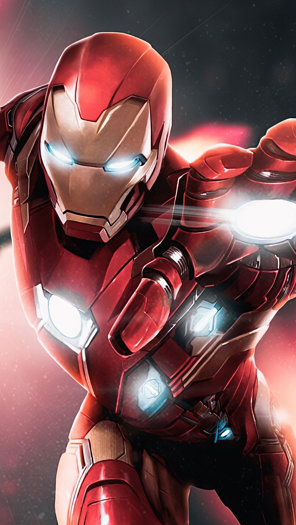 Wallpaper Iron Man 2020 Art Vertical