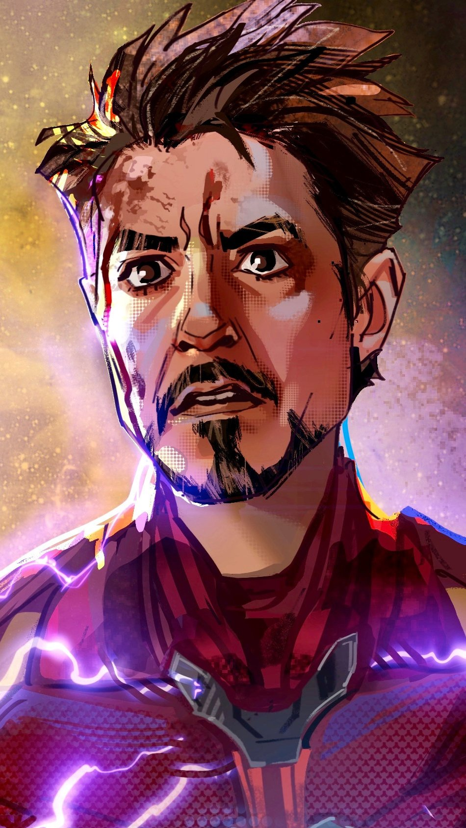 Wallpaper Iron man with gauntlet Vertical