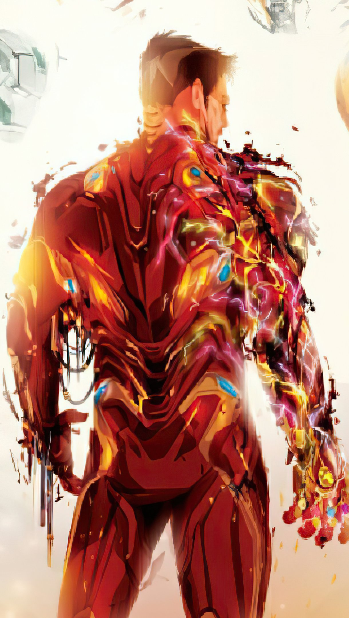 Wallpaper Iron man from the back Vertical