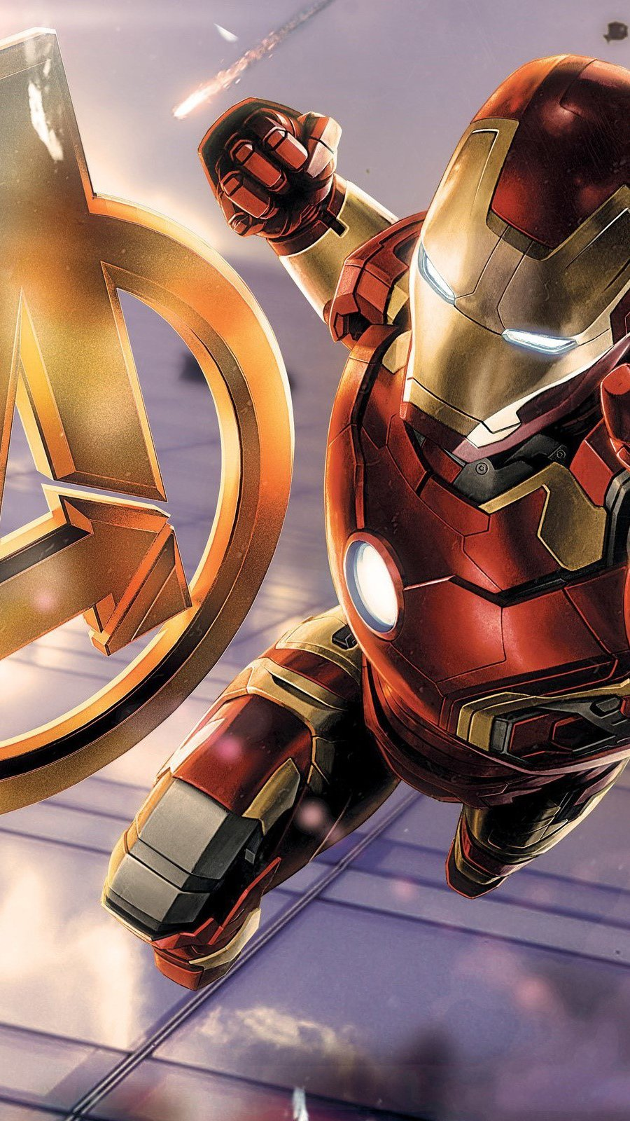 Wallpaper Iron Man in Avengers Vertical
