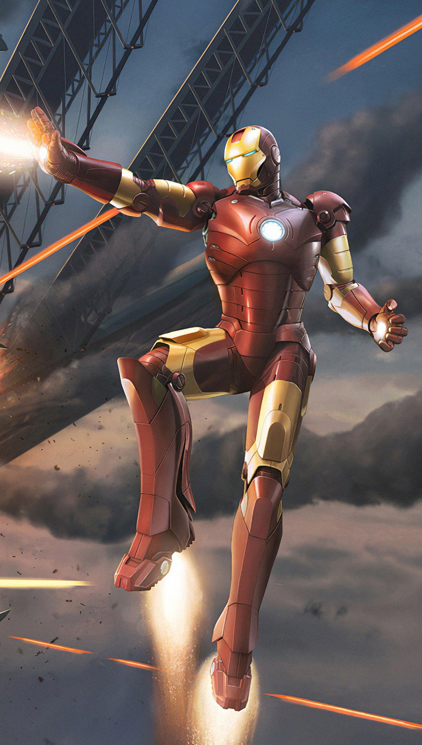 Fondos de pantalla Iron Man en batalla Vertical