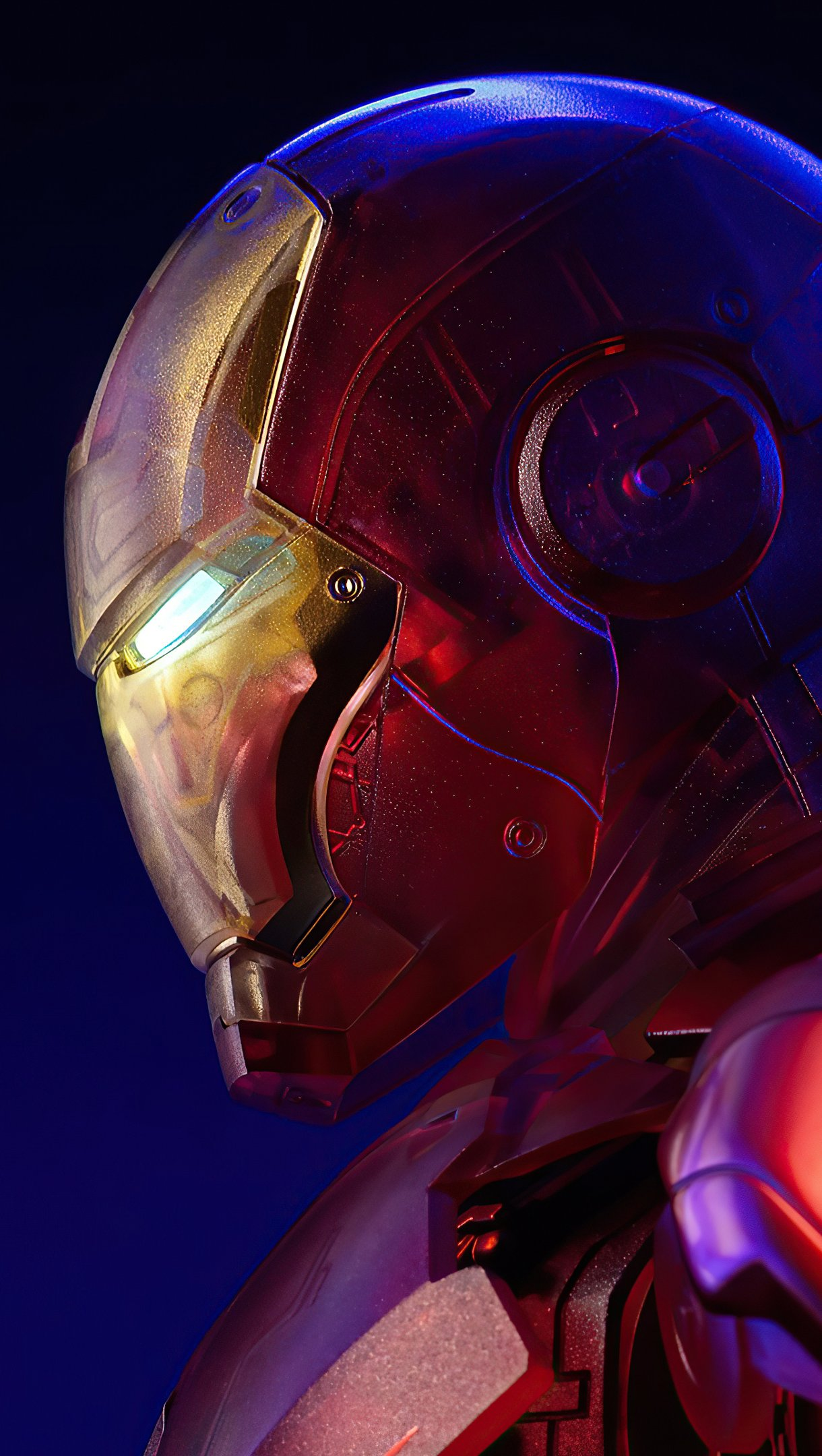 Wallpaper Holographic Iron Man Vertical