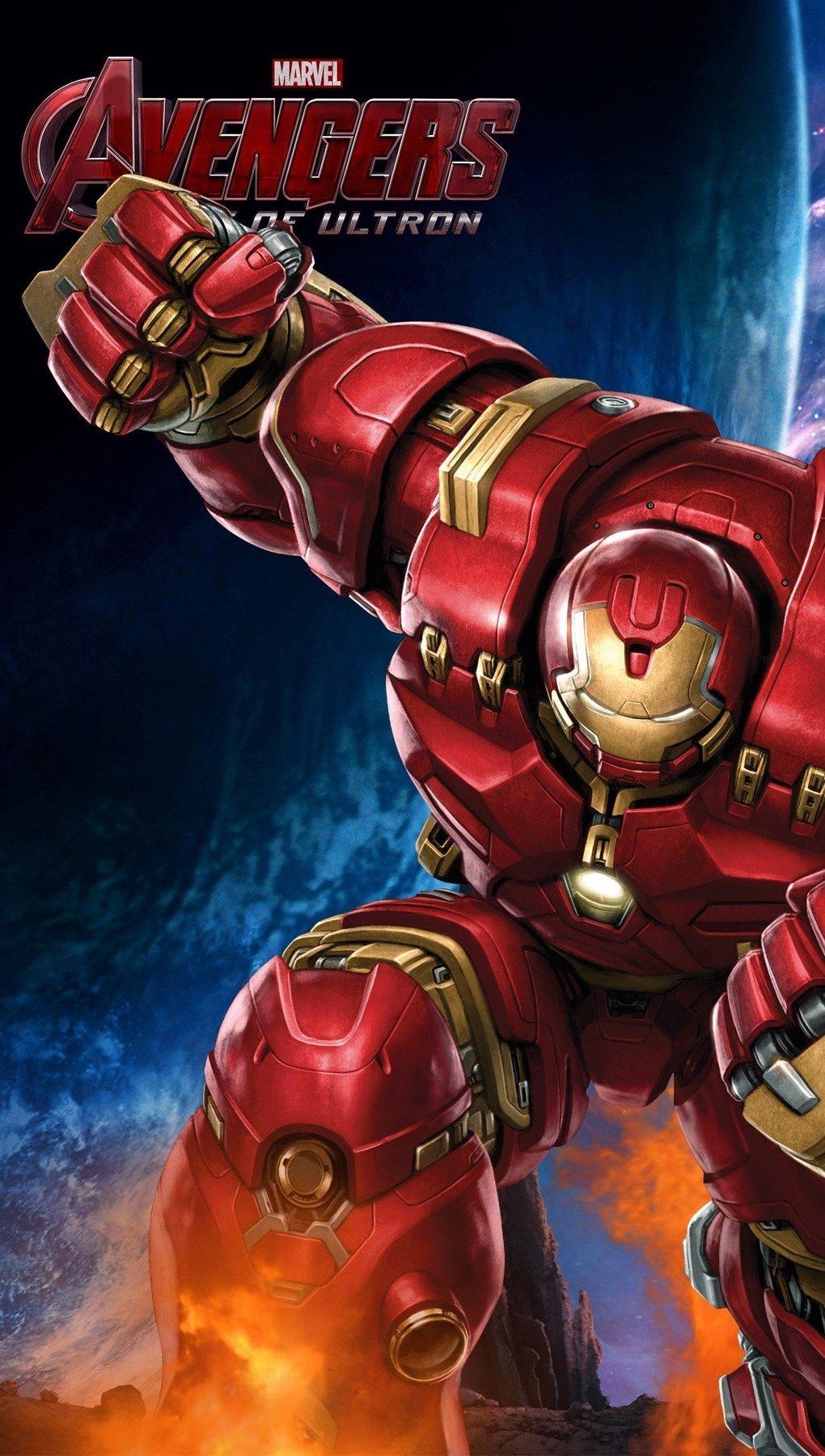 Wallpaper Iron Man Hulkbuster from The Avengers Vertical