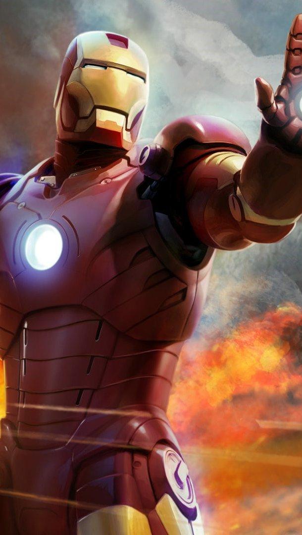 Fondos de pantalla Iron Man Ilustración Vertical