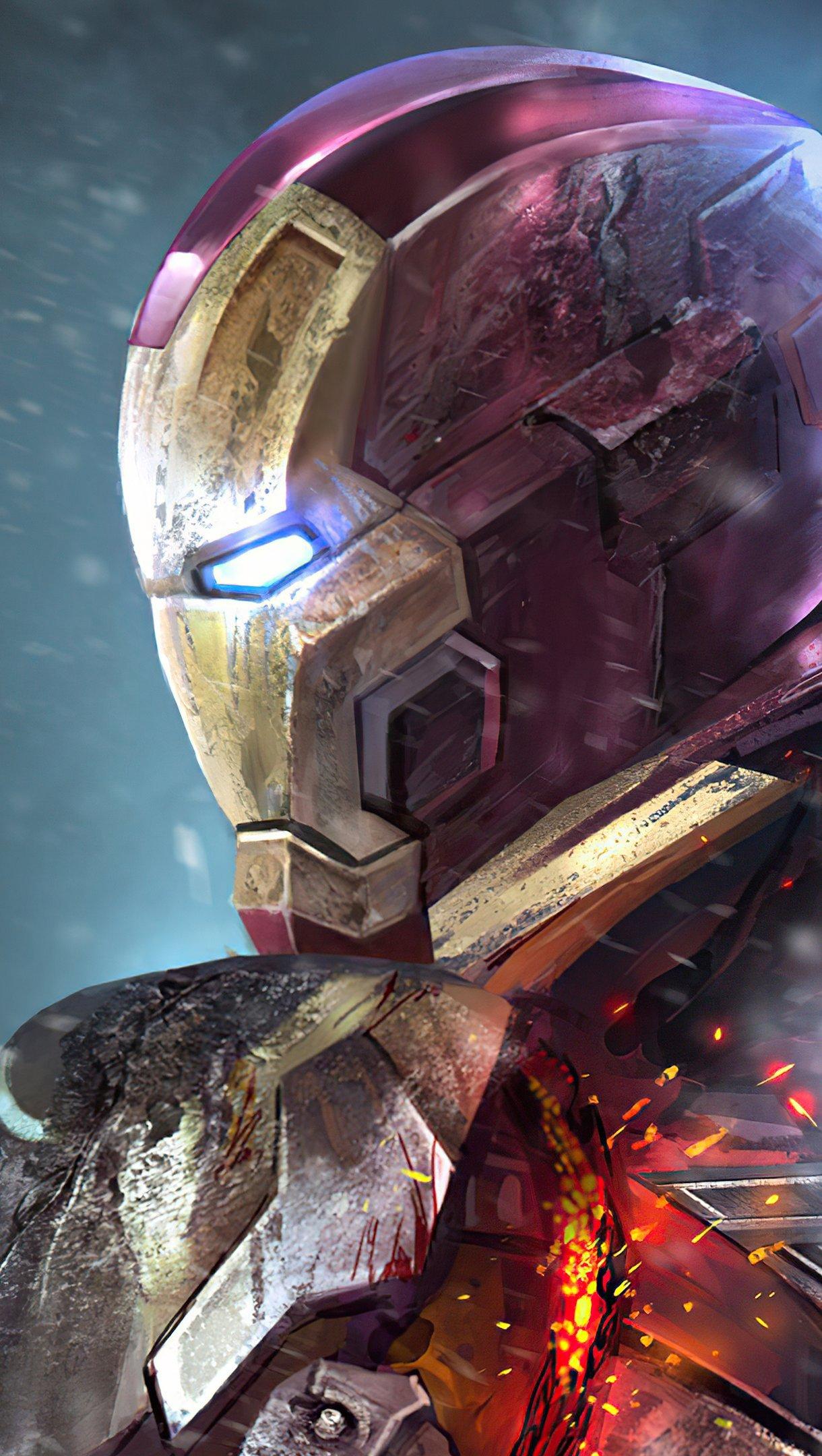 Wallpaper Iron Man Mark XLII M7 Vertical