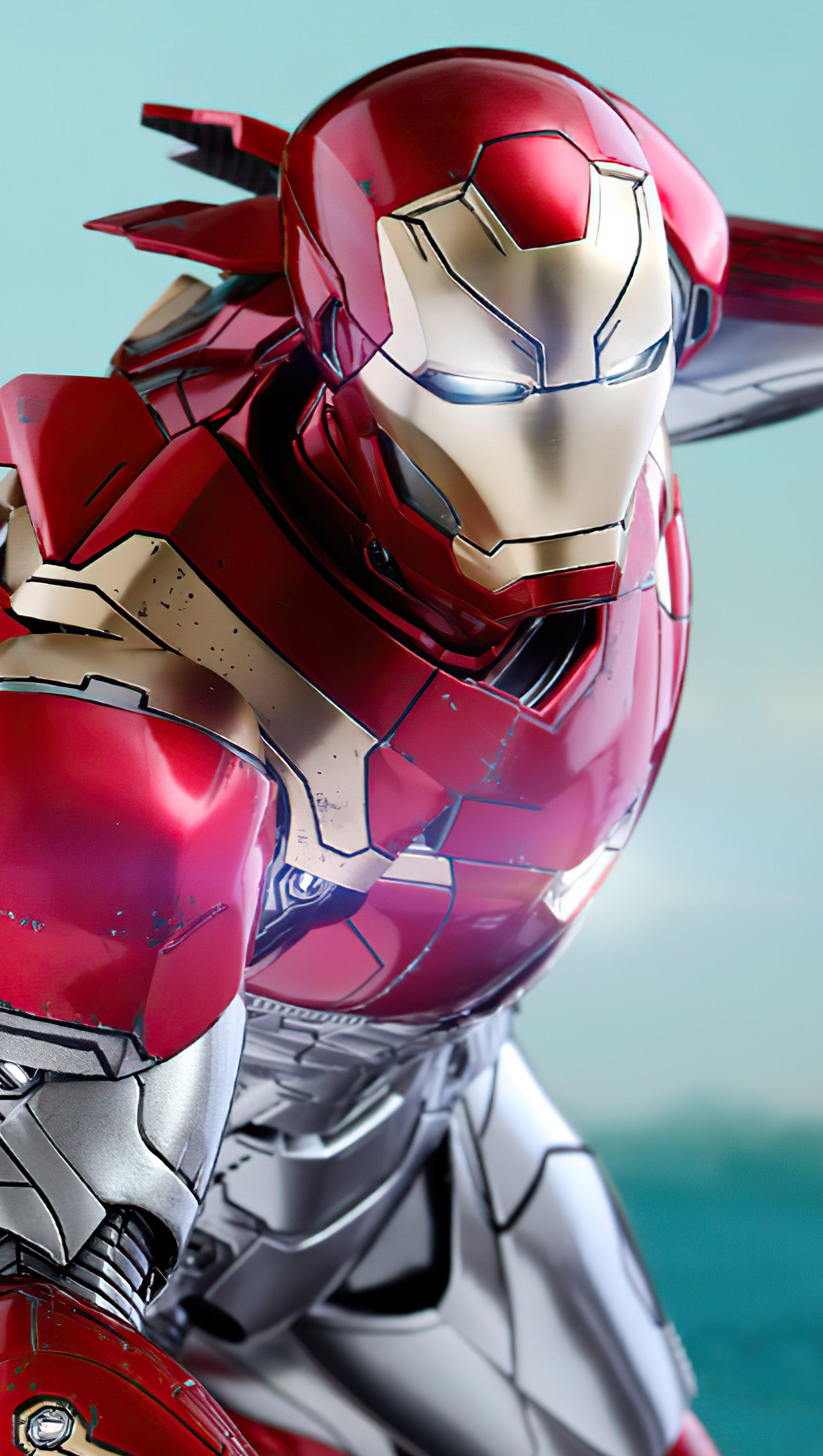 Wallpaper Iron Man Mark XLVII Vertical