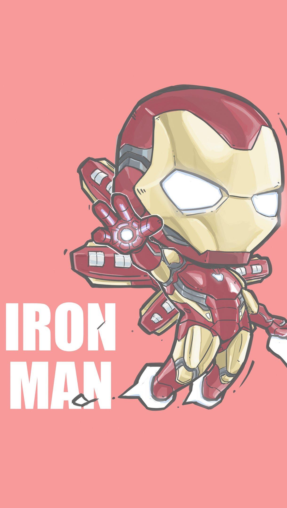 Wallpaper Iron Man Minimalist Vertical