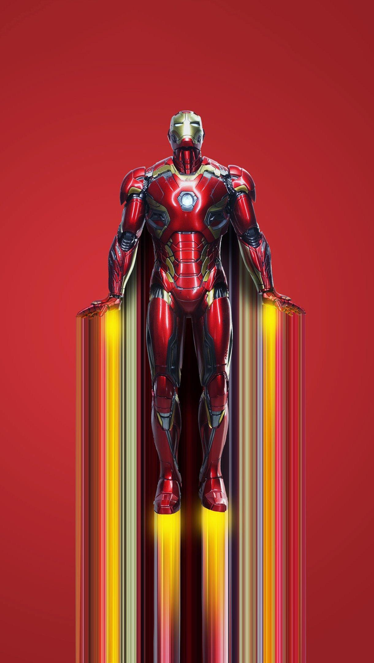 Fondos de pantalla Iron man volando 2020 Vertical