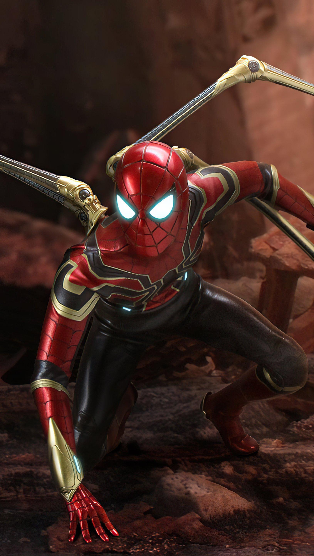 Fondos de pantalla Iron Spider Vertical
