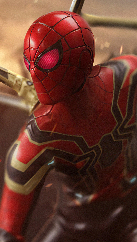 Fondos de pantalla Iron Spider ojos rojos Vertical