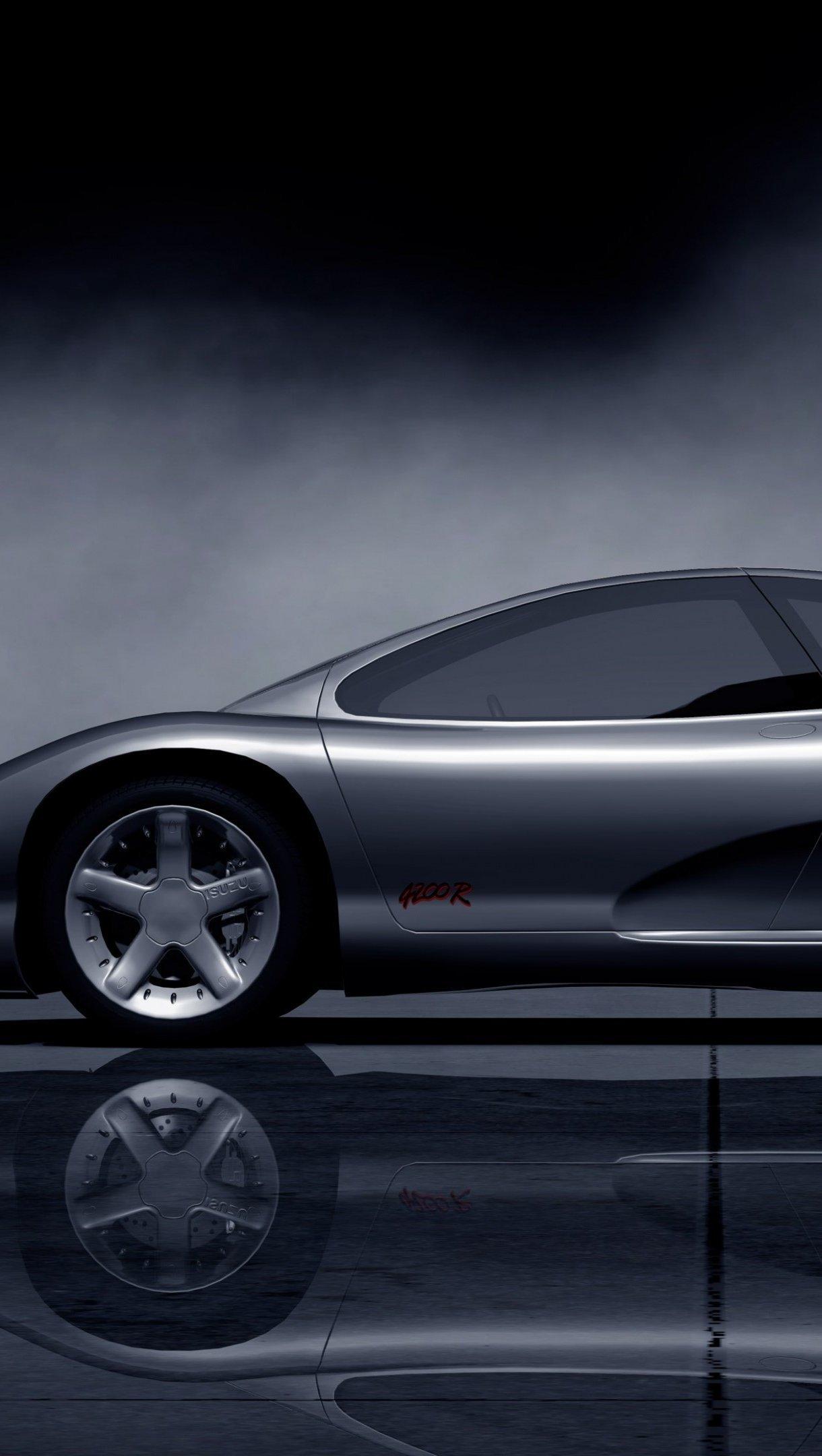 Fondos de pantalla Isuzu 4200R concept  gris oscuro Vertical
