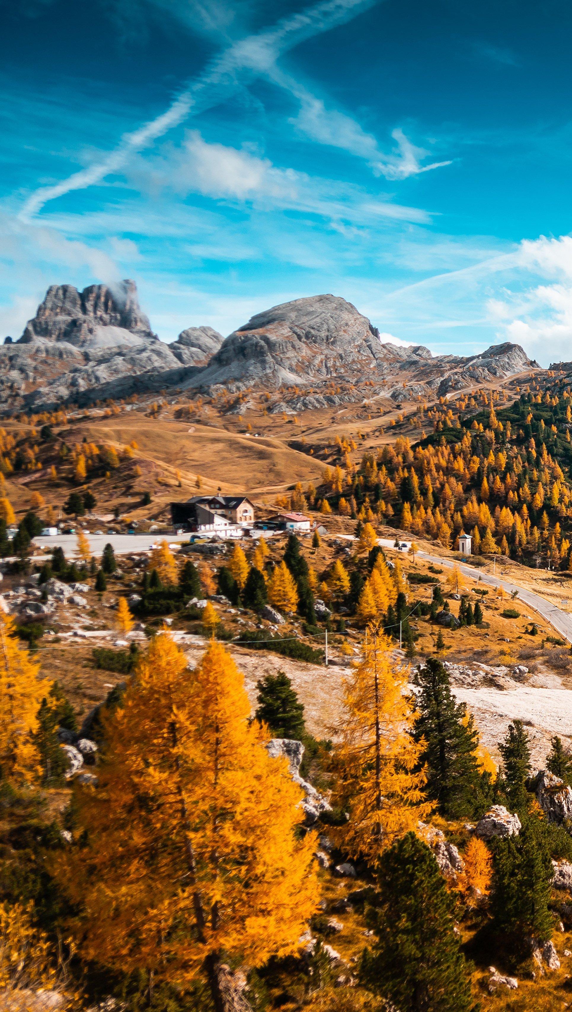 Fondos de pantalla Italia en el otoño Vertical