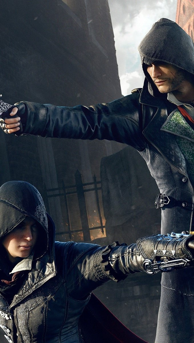 Wallpaper Jacob and Evie Frye of Assassins Creed Syndicatte Vertical